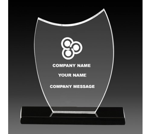 Customizable Acrylic Shield Trophy