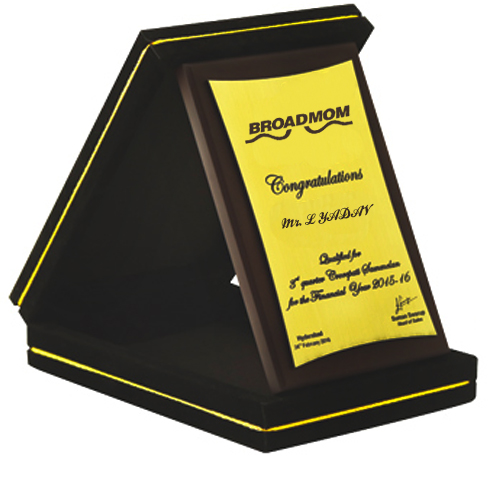 Elegant Wooden Plaque with Box