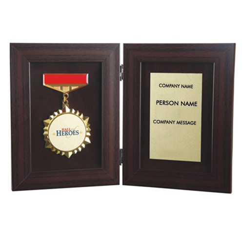 Luxurious Wooden Plaque with Gift Box
