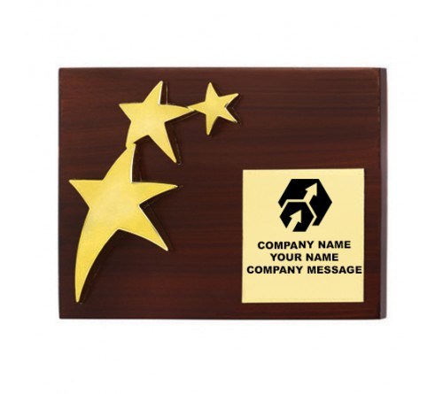 Wooden Triple Star Trophy