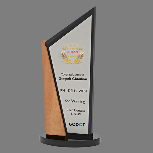 Wooden Acrylic Trophy