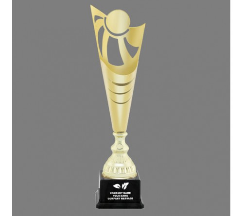 Printed Golden Plated Trophy IT-3536