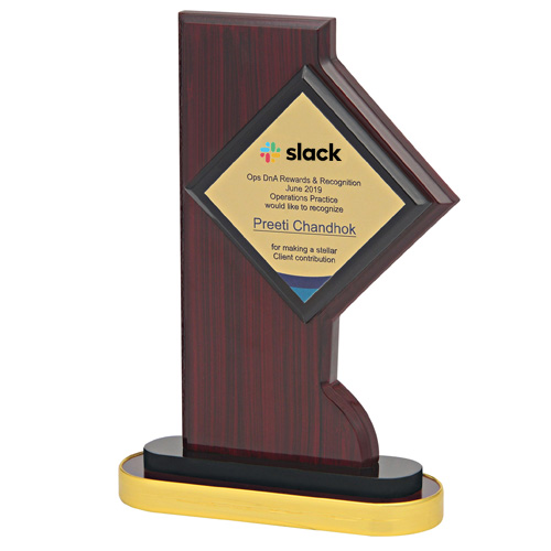 Customizable Wooden Award