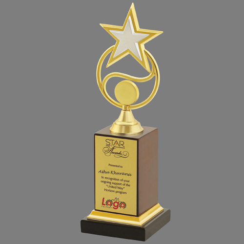 Gold Rising Star Trophy