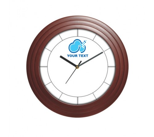 Personalized Wooden Round Shape Clock