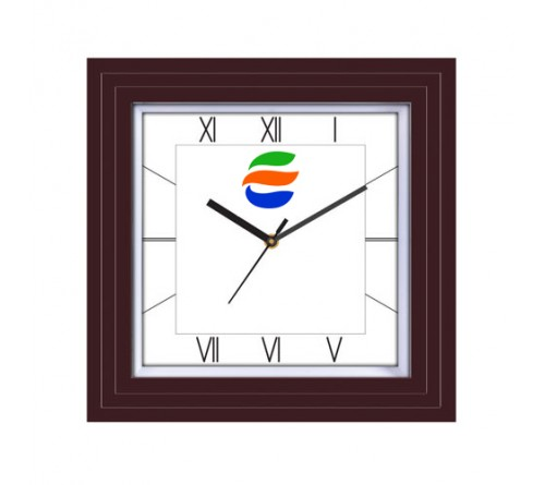 Rectangle Wooden Wall Clock