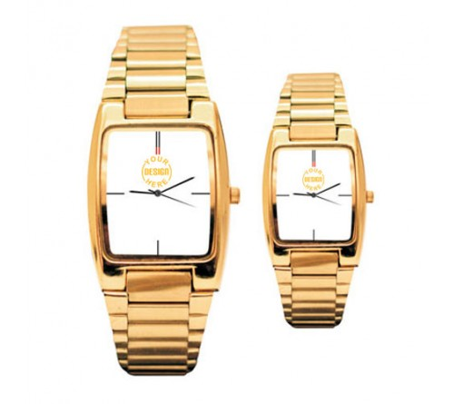 Golden Men Women Wrist Watch