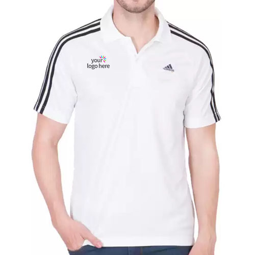 Adidas Personalized Stylish Polo T-Shirts Side Strips