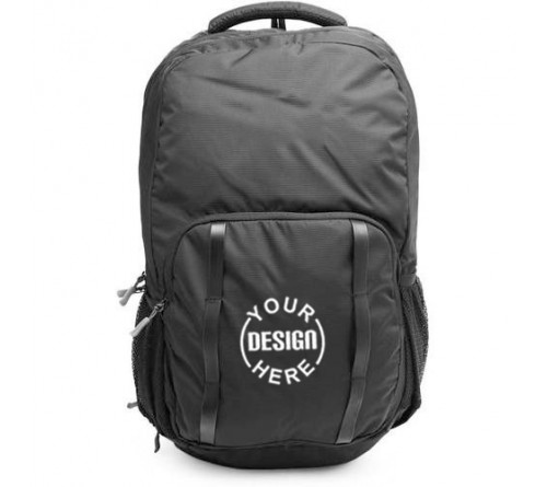 Customized Printed Backpack Black