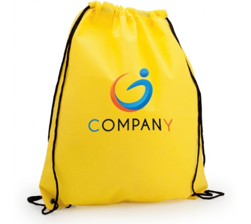 Drawstring Backpack Yellow