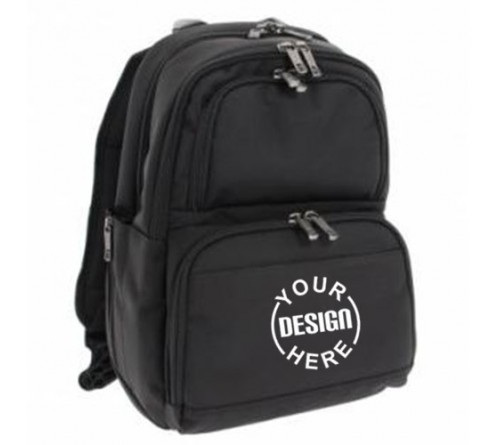 Printed Black Color Backpack Bag