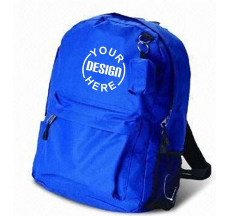 Printed Blue Backpack Bag