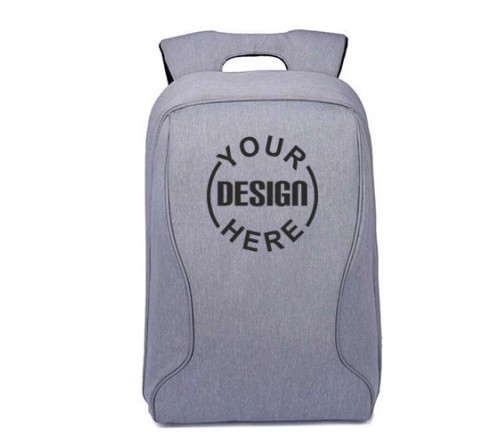 Silver Color Printed Backpack