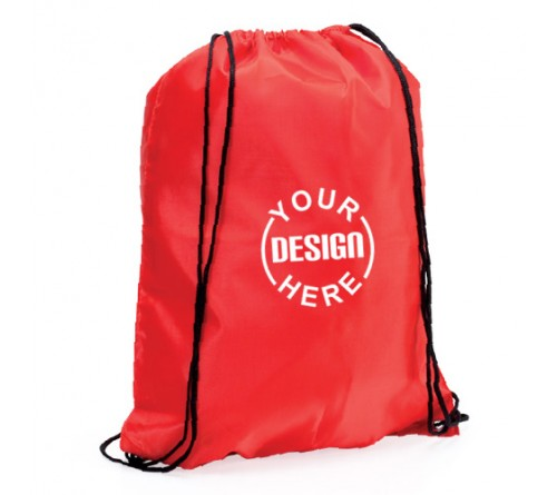 Drawstring Backpack Red