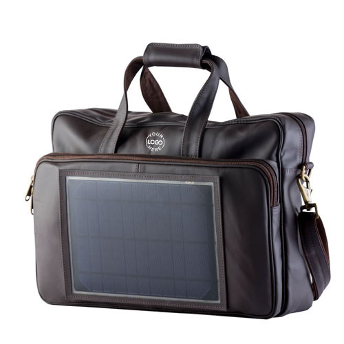Business Solar Leather Bag