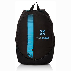 Personalized Puma Black And Fluo Blue Backpack