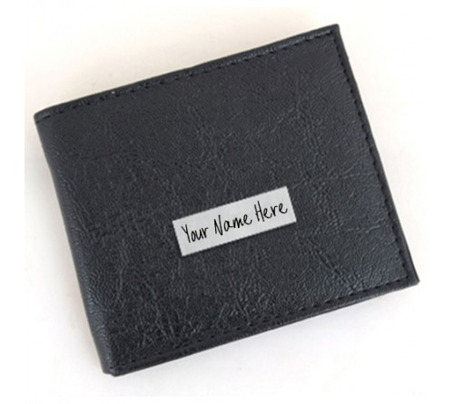 Customized Black wallet For Man