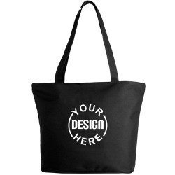 Personalized Zippered Tote Bag