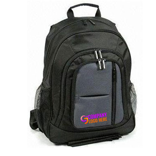Black Color Customized Backpack