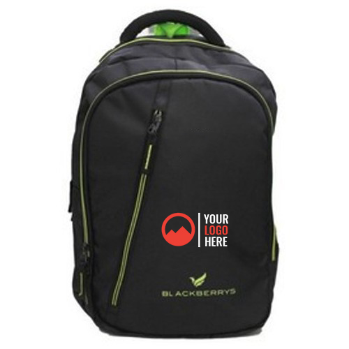 Laptop Bagpack With Green Zip Blackberry
