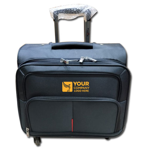 Business USB Laptop Roller Bag