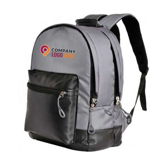 Customized Grey Color Backpack