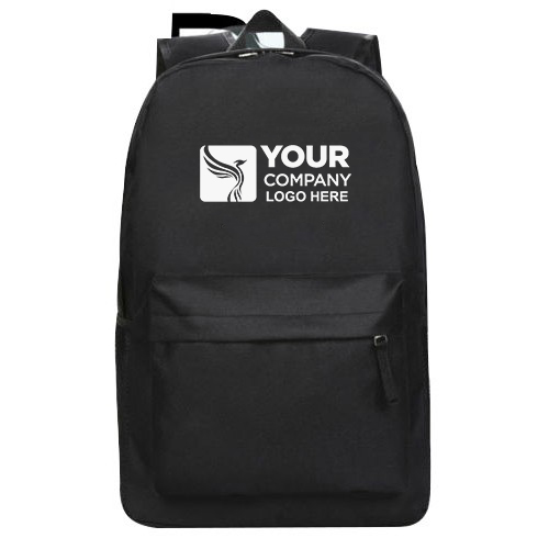 Polyester Backpack Black Color