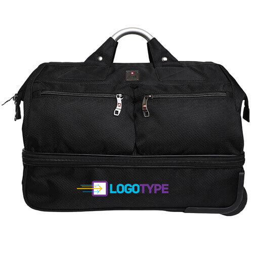 Double decker duffle trolley overnight bag