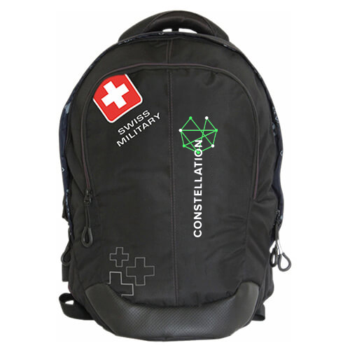Swiss Military Black Laptop Backpack