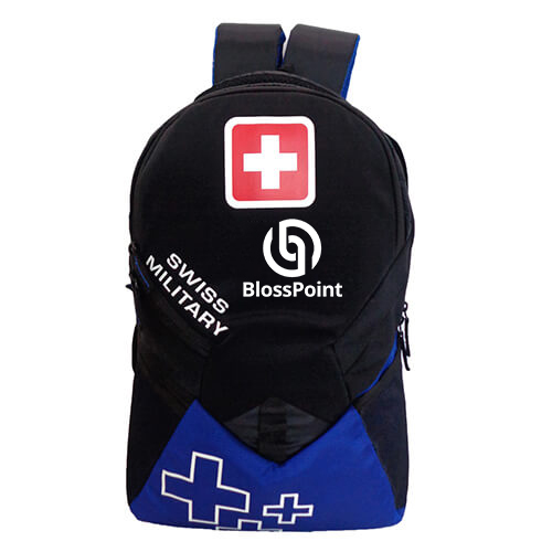 Swiss Military Blue Black Backpack