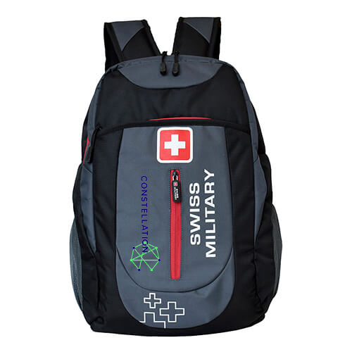 Swiss Military Gray Black Laptop Backpack