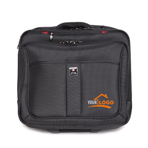 Swiss Military Laptop Trolley Bag Black