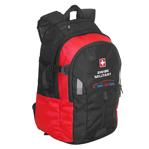 Swiss Military Red Black Backpack