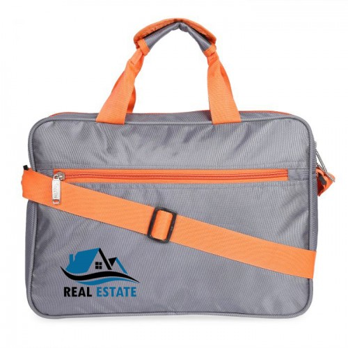 Laptop Polyester Messenger Bag Grey