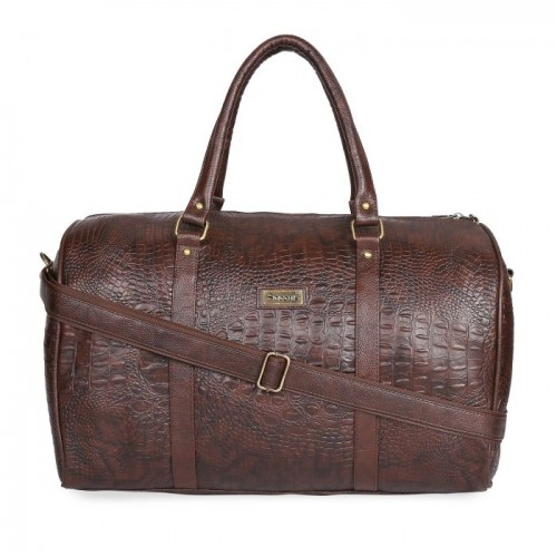 Leatherite Brown Duffle Bag