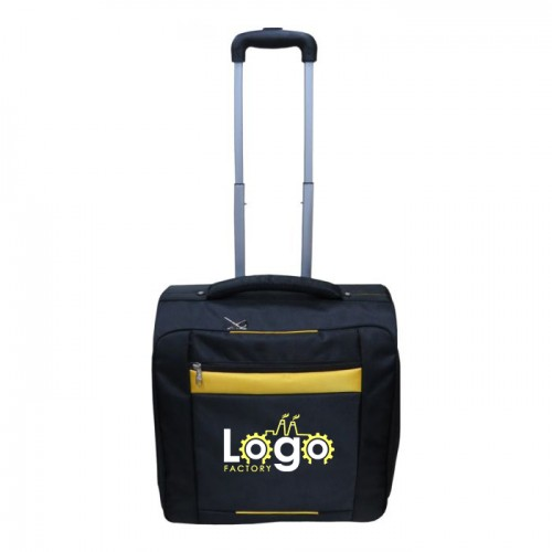 Navy Blue Overnite Trolley Bag