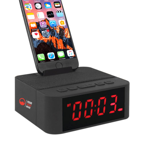 Wireless Bluetooth Speaker Mobile Phone Stand Alarm Clock