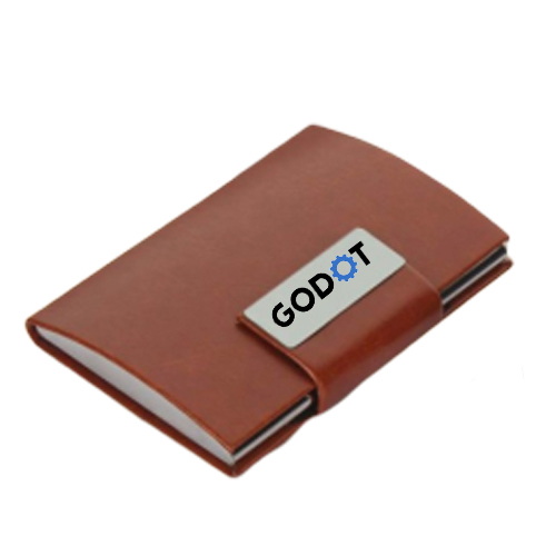Card holder with click on lock