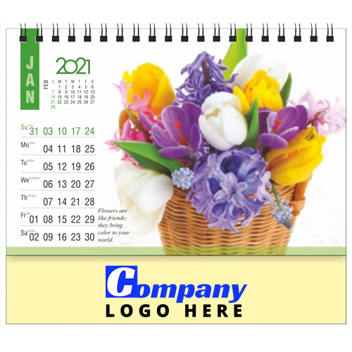 Beautiful Bouquet Table Calendar