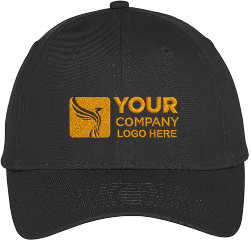Customized Embroidered Golf Caps Black
