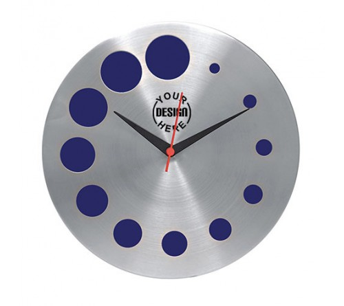 Blue Galaxy Round Wall Clock