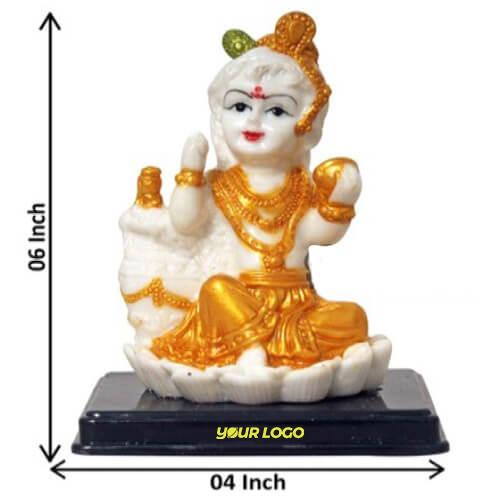 Little Krishna Golden Idol