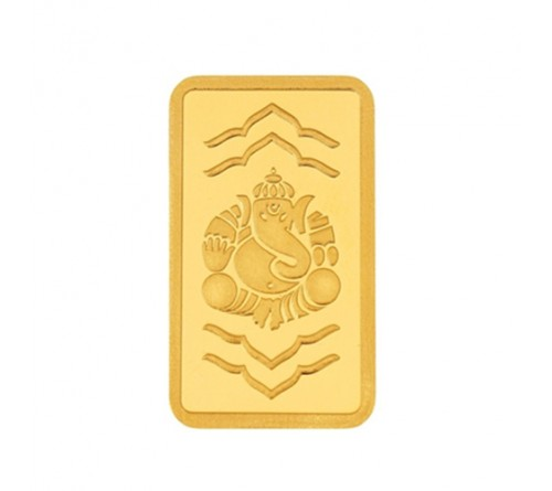 1 Gram Ganesha Gold Bar