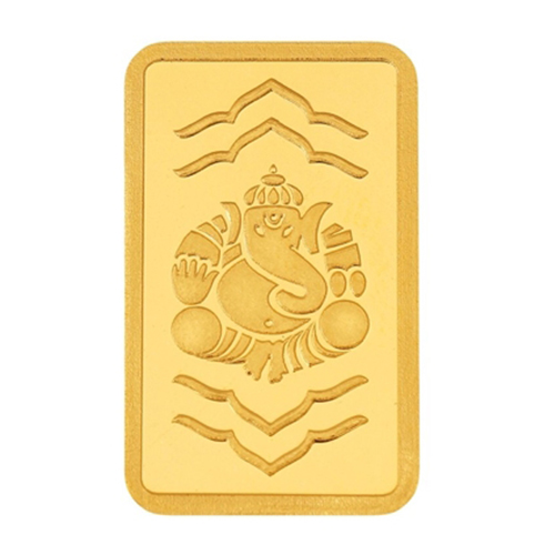 5 Gram Ganesha Gold Bar
