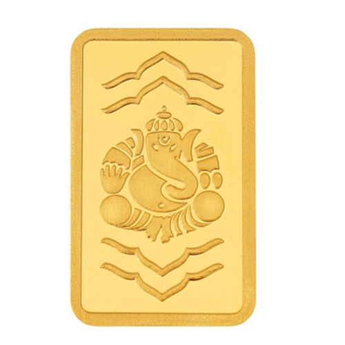 8 Gram Ganesha Gold Bar