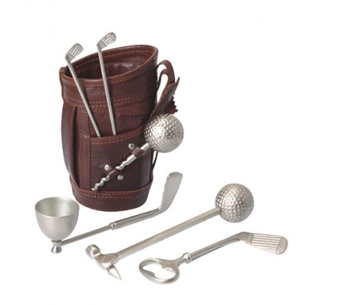 Golf Bar Set Leather Kit