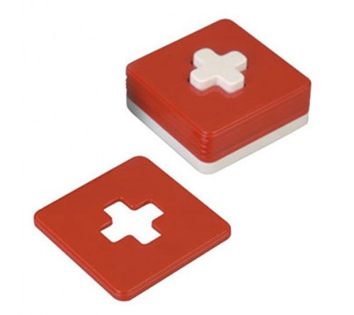 Red Cross Coaster Set of 6