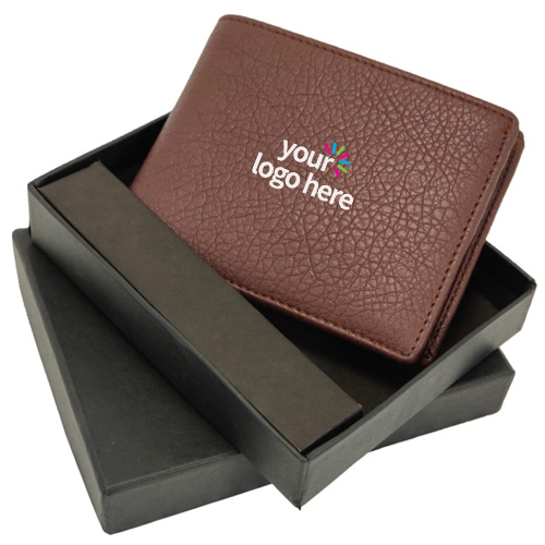 Genuine Leather Men's wallet Brown
