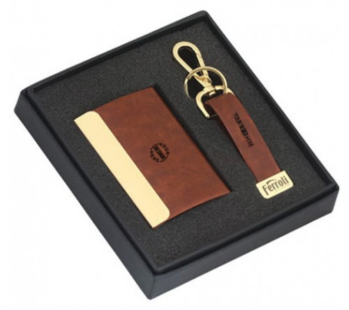 Set Of 2 Gifts Card Holder And Key Chain