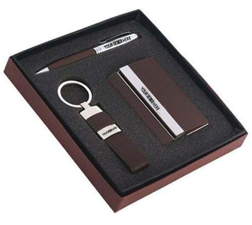 3 Piece Gift Set Pen / Card Holder / Keychain